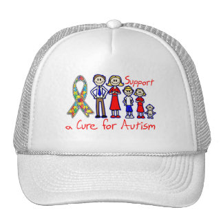 Family Support a Cure For Autism Mesh Hats