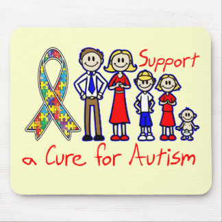 Family Support a Cure For Autism Mouse Pad