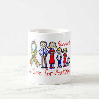 Family Support a Cure For Autism Coffee Mugs