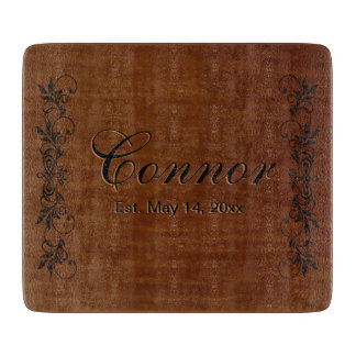 Family Surname   DIY Text Cutting Board
