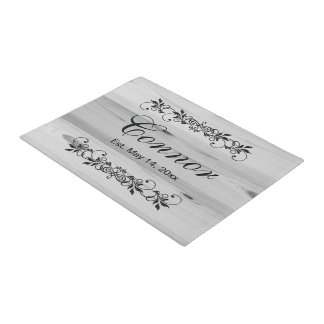 Family Surname Faux Gray Wood Doormat  | Zazzle