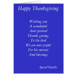 Family thanksgiving cards