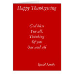 Family thanksgiving cards-thinking of you