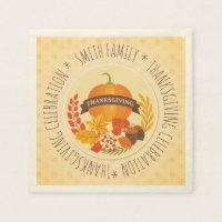 Family. Thanksgiving Celebration. Custom. Napkin