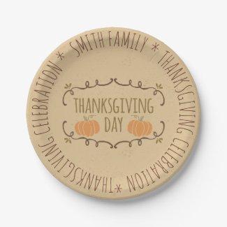 Family. Thanksgiving Celebration. Custom.