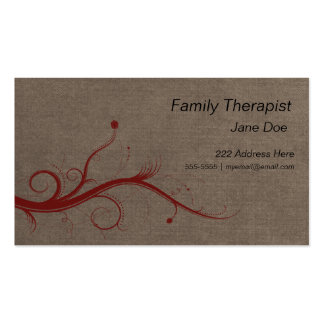 Family Therapist Appointment Business Card
