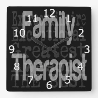 Family Therapist Extraordinaire Square Wall Clock