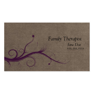 Family Therapist Floral Business Card