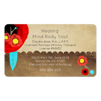 Marriage and family therapist business cards templates for Family business cards