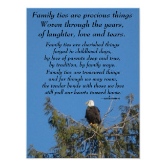 Family Ties Eagle Poster
