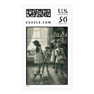 Family Time back in 1920's stamp