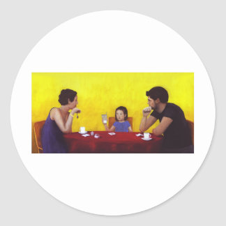 Family Time Classic Round Sticker