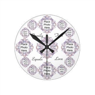 Family Time Fractal Bow Frames Clock