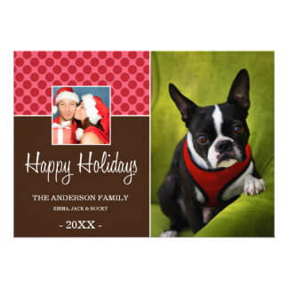 FAMILY TIME HOLIDAY PHOTO CARD CUSTOM ANNOUNCEMENT