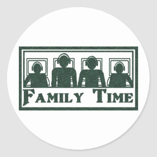 Family Time Round Stickers