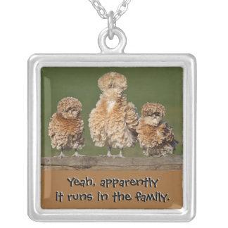 Family Traits Square Pendant Necklace