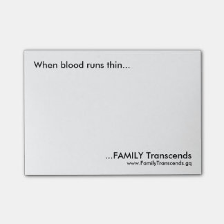 Family Transcends Post-it Notes