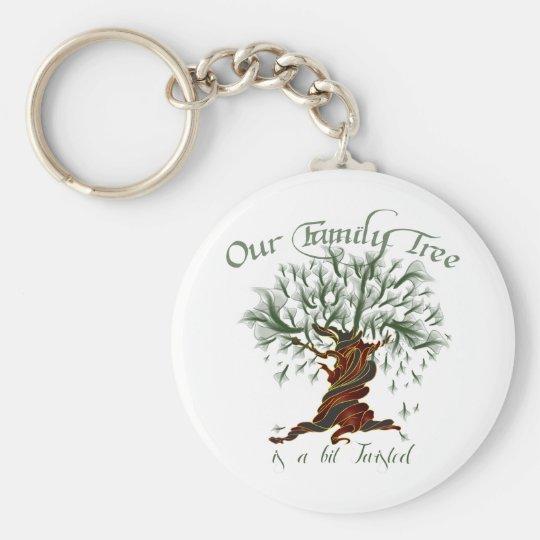 Family Tree a Bit Twisted Keychain