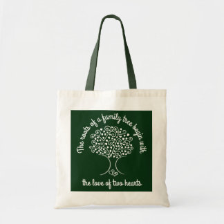Family Tree Ancestry Hearts Genealogy White Gift Tote Bag
