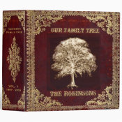 Family Tree | Antique Album 3 Ring Binder (<em>$24.15</em>)