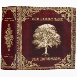 Family Tree | Antique Album 3 Ring Binder
