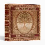 Family Tree | Antique Album or Scrapbook 3 Ring Binder (<em>$22.00</em>)