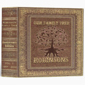 Family Tree | Antique Album or Scrapbook Binder (<em>$24.15</em>)