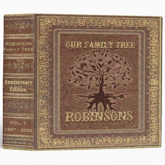 family tree antique album or scrapbook binder zazzle