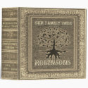 Family Tree | Antique Gold Album or Scrapbook 3 Ring Binder
