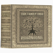 Family Tree | Antique Gold Album or Scrapbook 3 Ring Binder (<em>$24.15</em>)