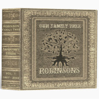 Family Tree | Antique Gold Album or Scrapbook 3 Ring Binder