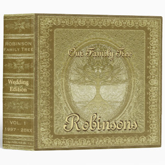 Family Tree | Antique Gold Book Binder
