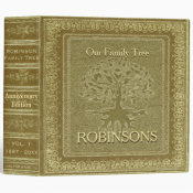 Family Tree | Antique Gold Look Book Binder (<em>$24.15</em>)