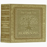 Family Tree   Antique Gold Look Book Binder