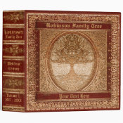 Family Tree | Antique Looking Book 3 Ring Binder (<em>$24.15</em>)