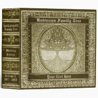 Family Tree | Antique Looking Book Binder