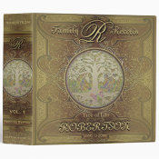 Family Tree | Antique Vintage Gold Binder (<em>$24.15</em>)