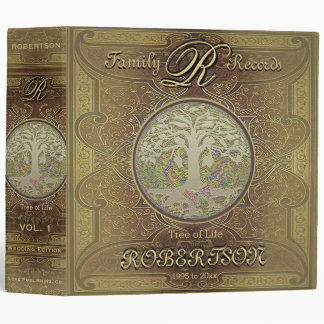 Family Tree | Antique Vintage Gold Binder