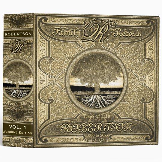 Antique Vintage Gold Foil Look Binder