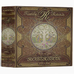 Family Tree | Antique Vintage Leather Book Look 3 Ring Binders