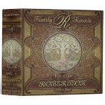 Family Tree | Antique Vintage Leather Book Look Binder<br><div class='desc'>An antique vintage looking book in brown, gold and leather look with a tree of life makes a very attractive and interesting place to store photos, awards and more in a scrapbook. If you need more than one book, change the volume numbers as needed. You could create an anniversary edition,...</div>