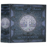Family Tree | Antique Vintage Leather BookBlue 3 Ring Binder