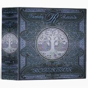 Family Tree | Antique Vintage Leather BookBlue 3 Ring Binder (<em>$24.15</em>)