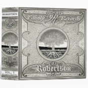 Family Tree | Antique Vintage Silver Foil Look Binder (<em>$24.15</em>)