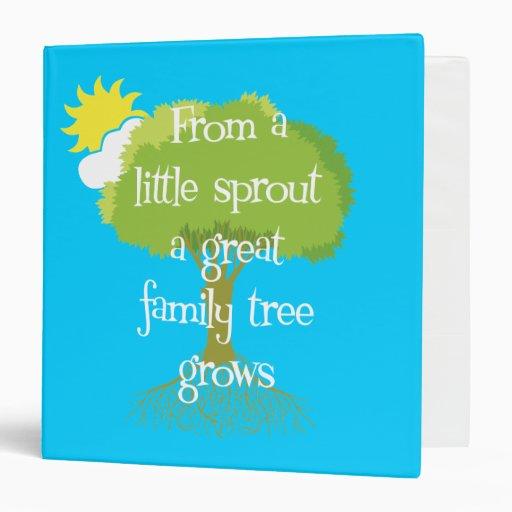 Family Tree Binder or Photo Album Vinyl Binder
