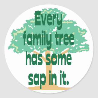 Family Tree Classic Round Sticker