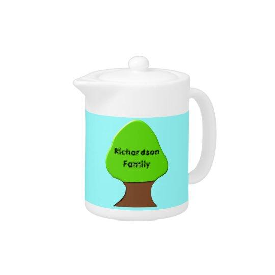 Family Tree Customizable Teapot