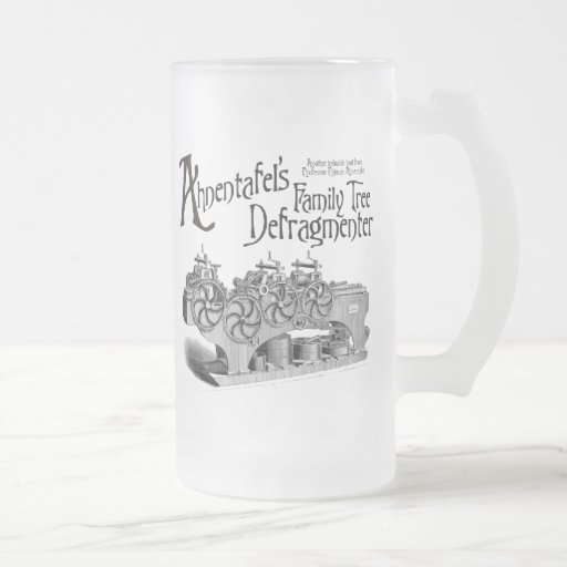 Family Tree Defragmenter 16 Oz Frosted Glass Beer Mug
