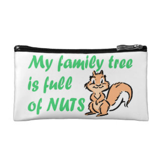 FAMILY TREE FULL OF NUTS COSMETIC BAG