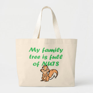 FAMILY TREE FULL OF NUTS LARGE TOTE BAG